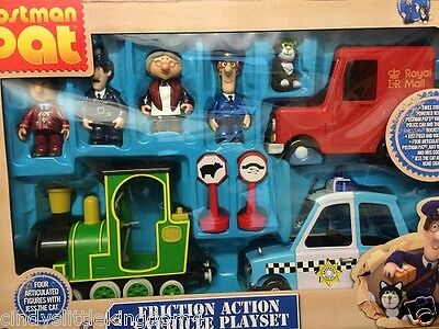 New Postman Pat Friction action 3 vehicle Rocket Police Car Figures playset set