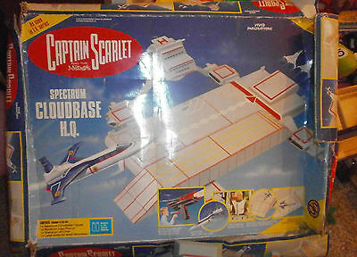 2 x CAPTAIN SCARLET SPECTRUM CLOUDBASE PLAYSET - Original and modern versions