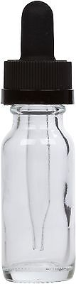 Clear Glass Bottle w/ Black Child Resistant Glass Dropper 0.5 oz