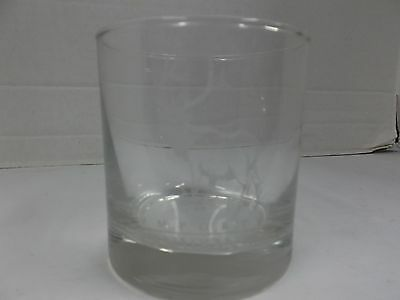 Imported Canadian Mist Whiskey Glass with etched Elk