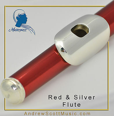 Flute - Red & Silver - Brand New, with How-to-Play eBook & MP3 Package