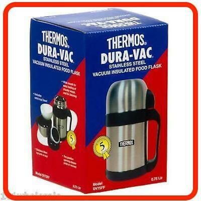 Thermos STAINLESS STEEL Dual VAC Food VACUUM FLASK 0.75 Litre 0.75L 750ml 800ml