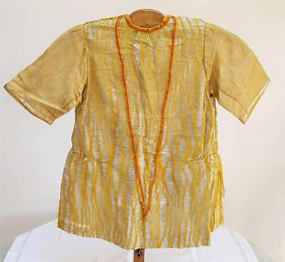 VINTAGE 1920's YOUNG GIRL'S GOLD LAME DROP WAISTED DRESS