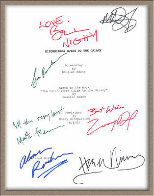 "Martin Freeman Mos Def Signed X7"" Hitchhiker's Guide To The Galaxy"" Script Rpt"
