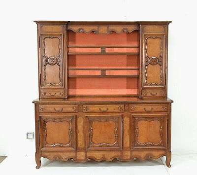 2201007 : Large French Country Bressan Style Vaisselier Cabinet Buffet Sideboard