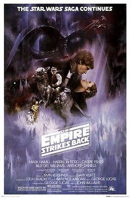 THE EMPIRE STRIKES BACK Movie Poster - Star Wars Full Size 24x36~ Vintage Style
