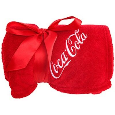 Coca Cola Coke Blanket Throw Red    New!!