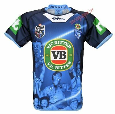 NSW State of Origin 2016 True Blue Captains Training Jersey Sizes S-5XL NRL