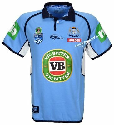 NSW Blues 2017 Mens Classic Jersey 'Select Size' S-5XL BNWT State of Origin NRL