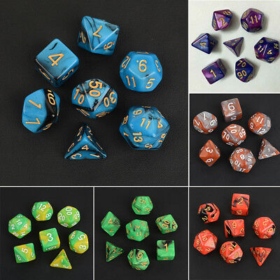 7pcs/Set Multi-sided TRPG Games Dungeons & Dragons D4-D20 Dices