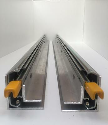 400 - 1000Mm  125Kg Drawer Runner Fridge Slides Locking With Attached Angles
