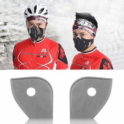 Cycling Bicycle Bike Motorcycle Ski Anti Dust Activated Carbon Face Mask Filter