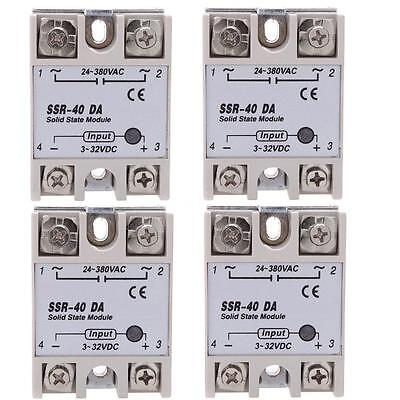 4pcs 24V-380V 40A SSR-40 DA Solid State Relay Module for Temperature Controller