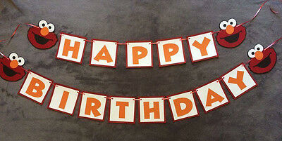 elmo happy birthday banner can be personalized with name age hand