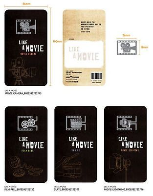 1 set (4 pcs) Movie Film- Stainless Steel Metal Art Bookmark Perfect Gift