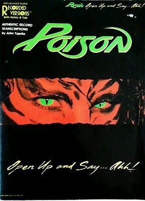 Poison Tablature Open Up & Say Ahh! Guitar Tab Poison Tab Guitar Tab Songbook