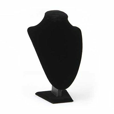 Wood Velour Chain Holder Jewelry Necklace Display Jewelry Holder Black DI