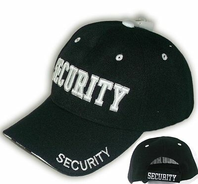 cb7a9926b SECURITY GUARD HAT Officer Baseball Ball Cap Black Embroidered ...