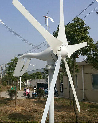 5 Blades 400W 12V DC Wind Turbine Generator System Home Use Street Light