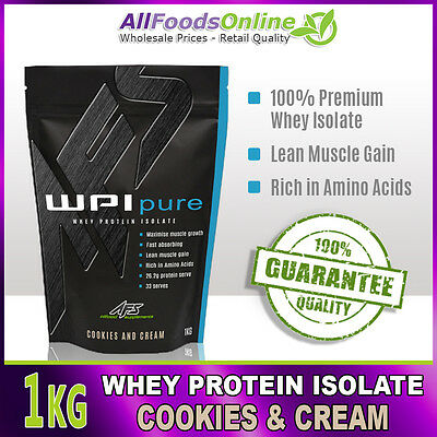 PREMIUM WPI - WHEY PROTEIN ISOLATE - WPI PURE - COOKIES & CREAM - 1kg