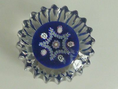Perthshire Pressed Paperweight PP61 Millefiori LE 1983 Letter O in Center EC
