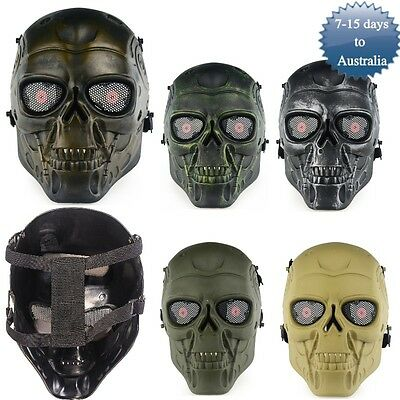Airsoft Paintball Skull Mask Full Face Cover Outdoor CS War Game Tactical Gear