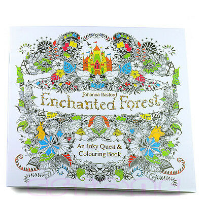 New An Inky Enchanted Forest Treasure Hunt and Coloring Book By Johanna Basford