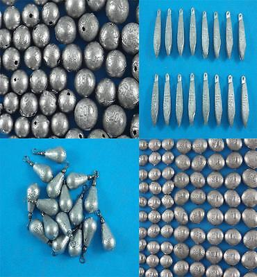 Ball Snapper Pear Bomb Bean Sinkers Qty 150 To 9 Fishing Tackle Professional
