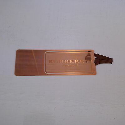 All Gold Thin Elite Executive Original BURBERRY Bookmark Readers Students