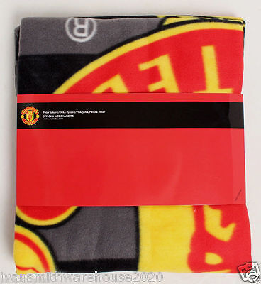 Manchester united FC licenced  Fleece Blanket 120 x 140 Official Merchandise