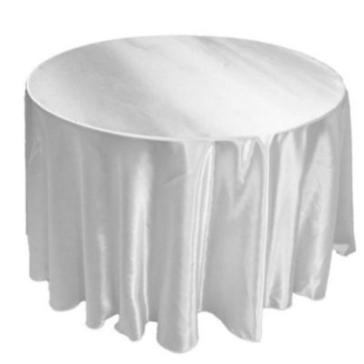 "10 PACKS 120"" inch Round SATIN Tablecloth WEDDING 25 COLOR 5' Ft table USA SALE"