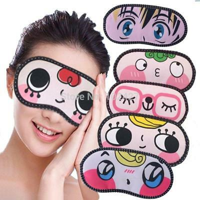 Cute Cartoon Sleeping Eye Mask Sleep Shade Blindfold Aid Kid Party Travel Gift