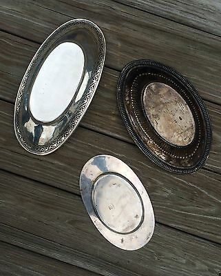 STERLING OVAL DISH TRIO / 19.5 oz.