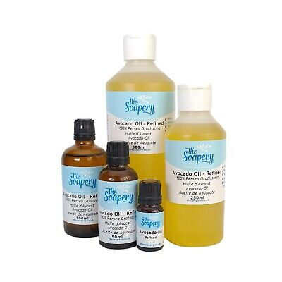Avocado Oil 100ml - 1 litre Pure Refined Massage Carrier Body Oil Aromatherapy