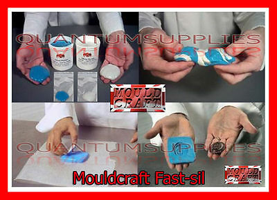 Mouldcraft Fast-Sil 16g-1kg Mould Making Silicone Putty RTV Food safe Sugarcraft