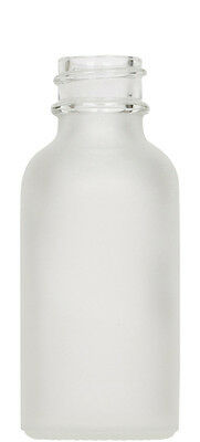 Frosted Glass Boston Round Bottle Case Pack 1 oz