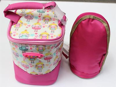 Insulated baby bottle bag / Thermal travel food & milk bag - Attaches to pram