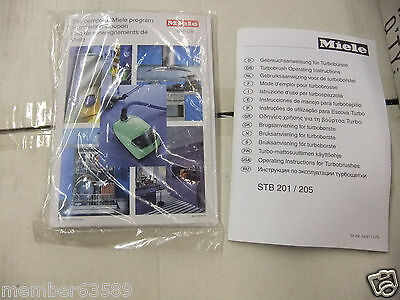 Owner's Manual Paperwork  MIELE STB 201 205 and 251i
