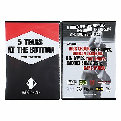 PD DIST 5 Years At The Bottom DVD By Baker skateboards Dustin Dollin FREE POST