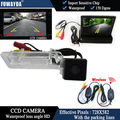 Wireless 4.3'' Monitor Car Back up  Reverse Camera for Benz SMART R300 R350