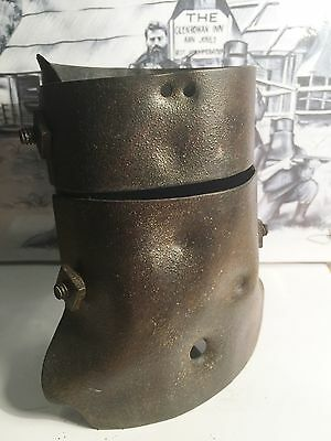 Superbly Hand Forged/Crafted 1/3 Size Replica Ned Kelly Helmet. Gift, Man Cave