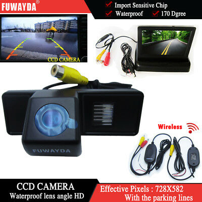 Wireless 4.3'' Monitor Car Reverse Back up  Camera for Mercedes-Benz Vito Viano