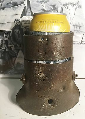 Superbly Hand Forged/Crafted 1/3 Size Replica Ned Kelly Helmet. Stubby Holder