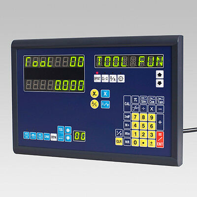 2 Axis Dro Digital Readout For Mill Lathe Machine With Linear Encoder/scales