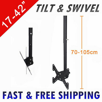 """Lcd Led Plasma Ceiling Roof Tv Bracket Television Wall Mount - Fits 17"""" - 42"""""""