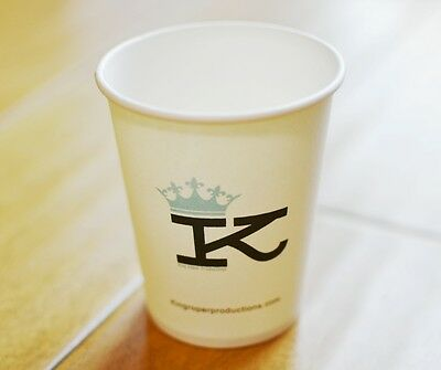 Customized Coffee Cup (500 Paper Cups) Print Your Own LOGO Customizable 500pcs