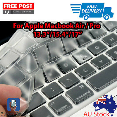 "New Clear Keyboard Case Cover Protector for Apple MacBook Pro Air 13.3"" 15.4"" 17"