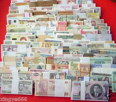 New banknotes 102 Different world paper money collection ,High Quality!