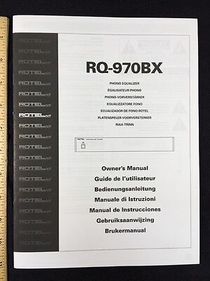 rotel rq 970bx phono equalizer owners manual 6 pages of english rh picclick com Rotel Chicken Spaghetti Rotel Chili