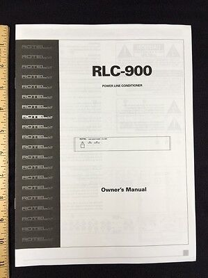 rotel rlc 900 power line ac conditioner owners manual 4 pages rlc900 rh picclick com danby air conditioner owner's manual bryant air conditioner owner's manual